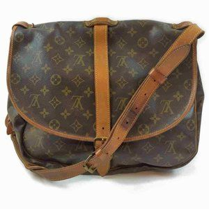 Auth Louis Vuitton Saumur 35 Crossbody #6262L18